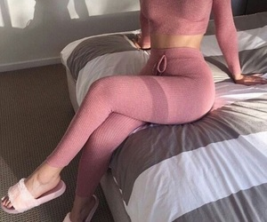 fashion, pink, and two piece image