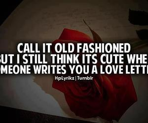 quote, love letter, and old fashioned image