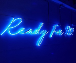 neon, blue, and lights image