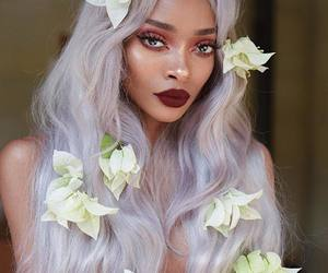 flower, cute, and hair image