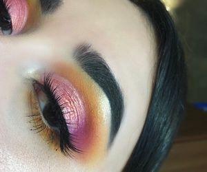 art, makeup, and rose gold image