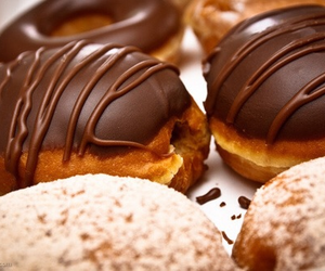 chocolate, food, and donuts image