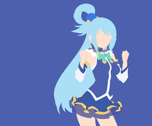 anime, aqua, and konosuba image