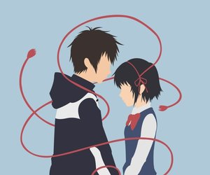 your name, kimi no na wa, and taki mitsuha. anime image