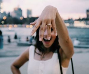 girl, proposal, and ring image