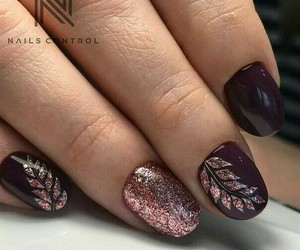 nails and leaves image