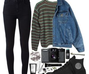 outfit, grunge, and style image