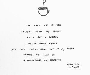 coffee, poem, and poetry image