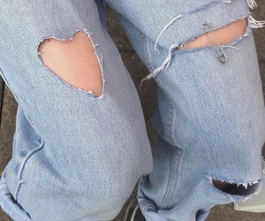 aesthetic, jeans, and blue image