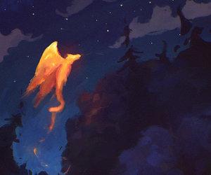 animal, art, and campfire image