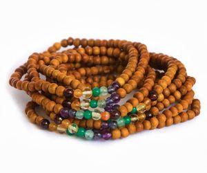 10 Pcs Seven Chakra Healing Sandalwood Reiki Yoga Genuine Friendship Bracelet