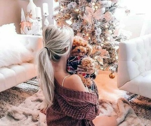 girl, christmas, and winter image