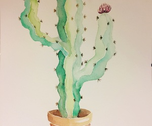 art, cacti, and love image