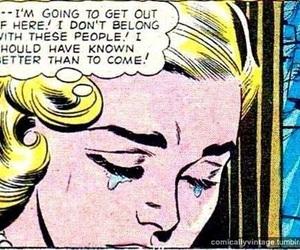 comic, girls, and vintage image
