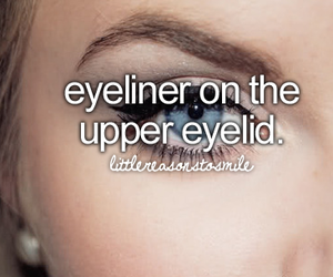 eyeliner, cute, and love image