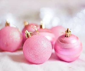 pink, christmas, and winter image
