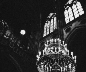 dark, architecture, and chandelier image