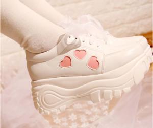 shoes, kawaii, and heart image