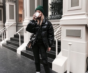 fashion, coffee, and street style image