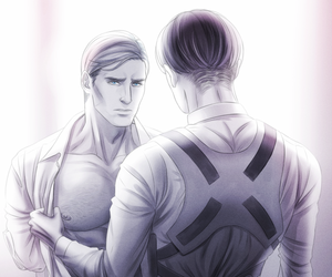 yaoi, rivaille, and erwin smith image