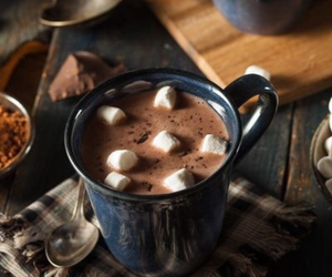 hot ​chocolate, winter, and chocolate image