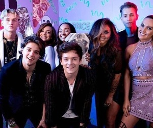 the vamps, little mix, and tristan evans image