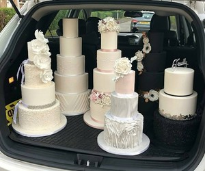 cakes, day, and wedding image