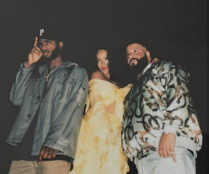 rihanna, bryson tiller, and dj khaled image