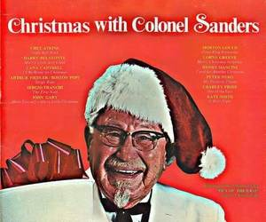 christmas, Colonel Sanders, and fried chicken image