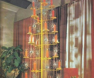 1960s, decorating, and christmas image