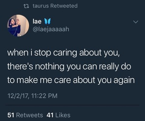 caring, quote, and tweet image