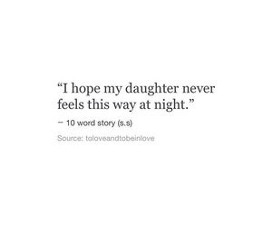 sad, daughter, and night image