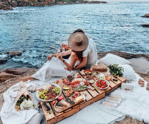 couple, food, and love image
