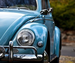 blue, car, and old image