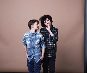 finn wolfhard, noah schnapp, and stranger things image
