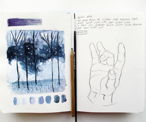 art, journaling, and painting image