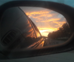 car, clouds, and drive image