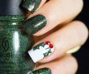 christmas, green, and nails image
