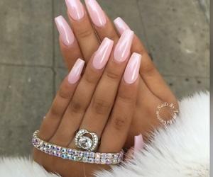 nails, beauty, and diamond image