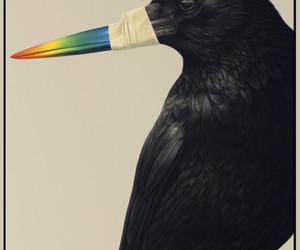 art, beak, and painting image