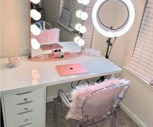 makeup, room, and pink image