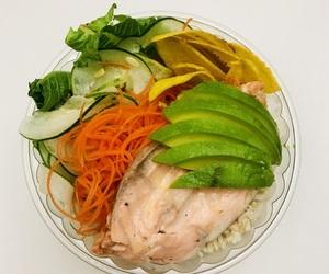 beautiful, eating, and salad image