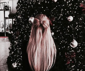 christmas, hair, and girl image