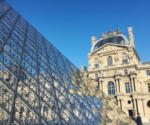 architecture, france, and louvre image