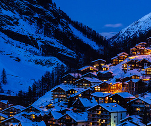 blue, christmas, and mountain image