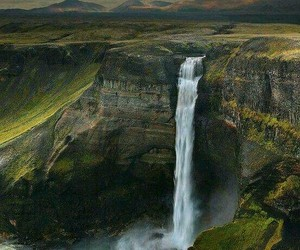 nature, waterfall, and iceland image