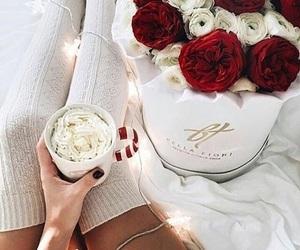 christmas, flowers, and light image