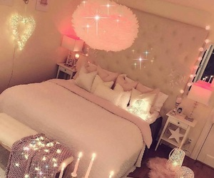 bright, bed bedroom room, and house home interior image