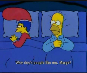 homer, simpsons, and marge image