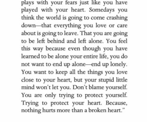 alone, broken heart, and heart image
